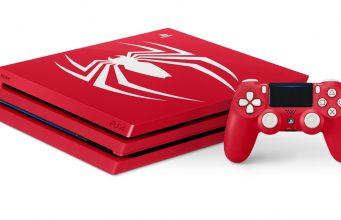 Sowohl das PS4-Pro- als auch das PS4-Slim-Modell der limitierten Spider-Man-Kollektion enthalten den passenden Dualshock-4-Controller (Abbildung: Sony Interactive)