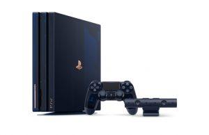 Das Sondermodell 500 Million Limited Edition PlayStation 4 Pro enthält den passenden Controller und eine PS-Kamera (Abbildung: Sony Interactive)