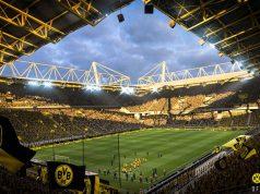"""Gelbe Wand inklusive: Der Signal-Iduna-Park wurde für """"FIFA 19"""" frisch vermessen (Abbildung: EA Sports)"""