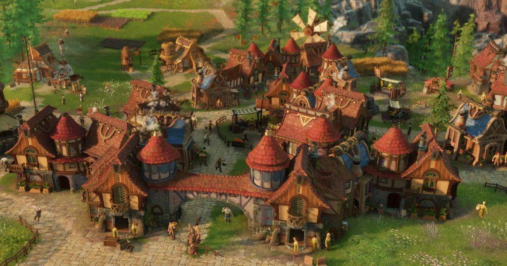 """Unverkennbar """"Die Siedler"""": Figuren und Gebäude sind mit viel Liebe zum Detail modelliert und animiert (Abbildung: Ubisoft Blue Byte)"""