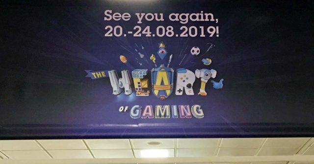 Auf Transparenten wird bereits für die Gamescom 2019 geworben - ob die Gamescom 2020 ebenfalls in Köln stattfindet, ist offen (Foto: GamesWirtschaft)