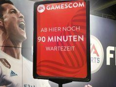 """""""FIFA 19"""" ausprobieren - und das ohne Wartezeit: Der Gamescom Fastpass (""""EA Player VIP Pass"""") macht es möglich - Fotos: GamesWirtschaft"""