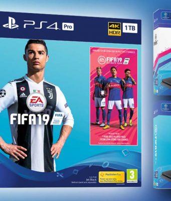 """Gleich drei PS4 FIFA 19 Bundles legt Sony Interactive zum Verkaufsstart von """"FIFA 19"""" am 28.9.2018 auf (Abbildungen: Sony)"""
