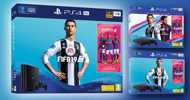 Gleich drei PS4 FIFA 19 Bundles legt Sony Interactive zum Verkaufsstart von