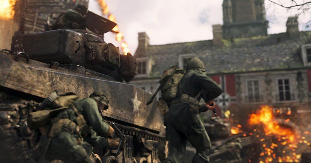 """Die internationale Fassung des Ego-Shooters """"Call of Duty WWII"""" zeigt Hakenkreuze nur in der Solo-Kampagne - nicht aber im Multiplayer-Modus (Abbildung: Activision Blizzard)"""