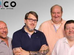 Die Geschäftsführung der Waco Mediahouse GmbH (von links): Alexander Kreis, Sven Siemen, Garry Leusch und Vitus Hoffmann (Foto: Waco)