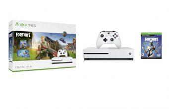 Das Xbox One Fortnite Bundle enthält neben Konsole, Controller und Spiel auch zahlreiche Extras (Abbildung: Microsoft)