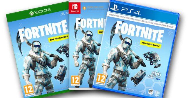 Das Fortnite Deep Freeze Bundle ist ab 15.11. für PS4, Xbox und Switch erhältlich (Abbildung: Warner Bros. / Epic Games)