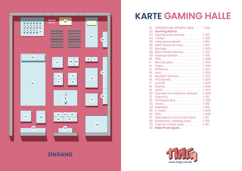 MAG Erfurt 2018 Hallenplan - Halle 1 (Games)