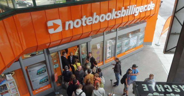 Erst im September hat die Notebooksbilliger AG eine fünfte Filiale in Stuttgart eröffnet - jetzt folgt der Zusammenschluss mit Medimax (Foto: Notebooksbilliger)