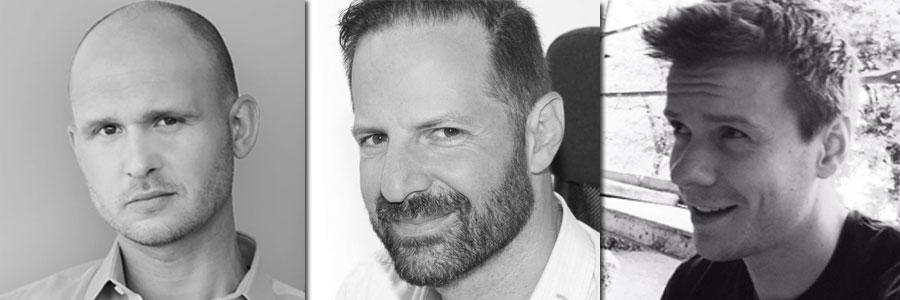 Das Triumvirat bei Private Division in München: Peter Langhofer (International Communications), Markus Wilding (Senior Director International Marketing and Communications) und Joe Banks (International Marketing) - Fotos: Private Division
