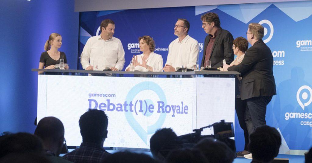 Politisches Spitzenpersonal von SPD, FDP, Linken, Grünen und Union folgte den Einladungen des Game zur Gamescom 2018 (Foto: KoelnMesse / Oliver Wachenfeld)