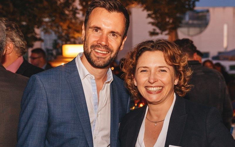 FDP-Generalsekretärin Nicola Beer ist regelmäßiger Gast auf Veranstaltungen des Game - hier beim Sommerfest 2018 in Berlin (Foto: Game / Jakob Nawka)