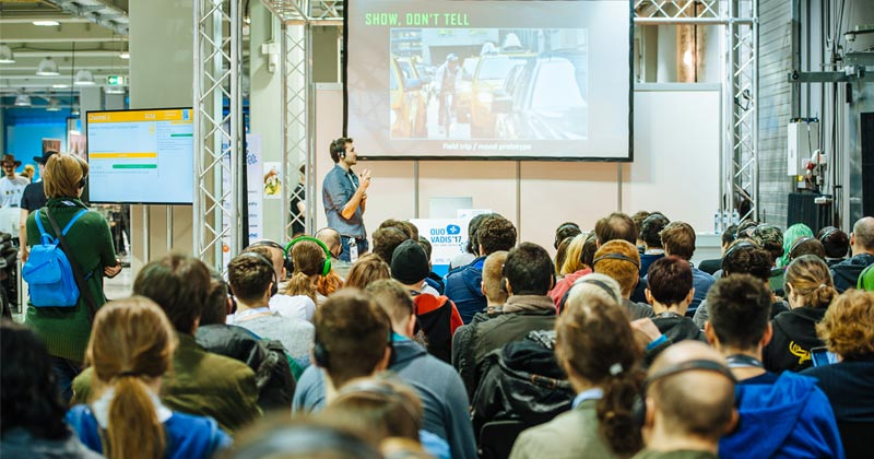 2018 fand die Entwicklerkonferenz noch in der STATION Berlin statt - die Quo Vadis 2019 zieht in die Berliner Kulturbrauerei (Foto: Grzegorz Karkoszka)
