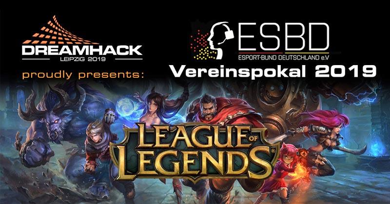 Das Finale des ESBD Vereinspokal 2019 wird am 15.2.2019 auf der DreamHack Leipzig ausgetragen (Abbildung: ESBD)