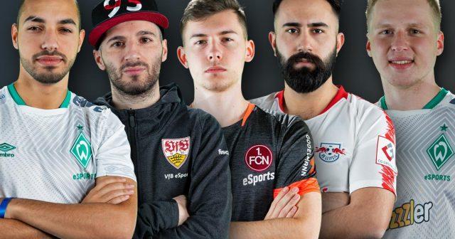 eSportler von Erst-Ligisten wie Werder Bremen, VfB Stuttgart, 1. FC Nürnberg und RB Leipzig wollen