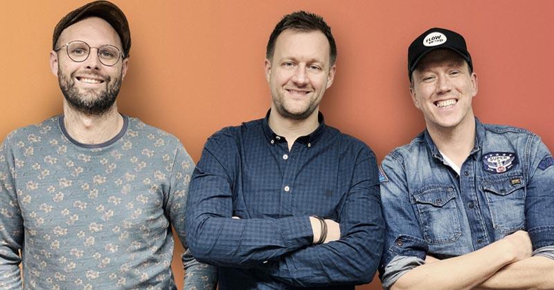 Flow:Fwd-Co-Gründer Pepe Wietholz, Geschäftsführer Markus Frey und Hendrik Martens (Business Development) bleiben auch nach der Webedia-Übernahme an Bord (Foto: Webedia Deutschland)