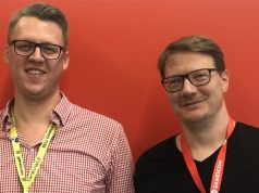 Agentur-Gründer Mateuz Szukajt und Tim Krause-Murroni (Galaktus Germany) auf der Gamescom 2018 (Foto: Galaktus)