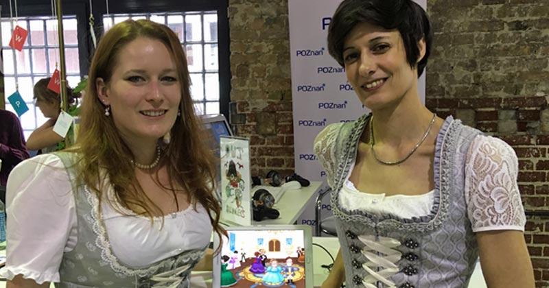 Katharina Kühn und Sonja Hawranke sind die Gründerinnen des Wittener Studios Golden Orb - Spezialität: interaktive Märchen (Foto: GamesWirtschaft)