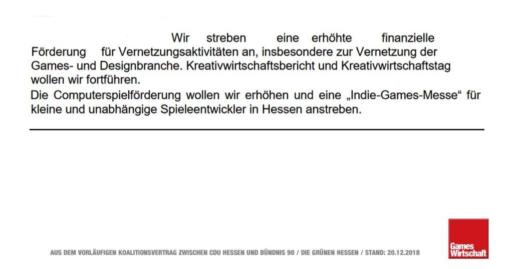 """Computerspiel-Förderung und """"Indie-Games-Messe"""": Auszug aus dem vorläufigen Koalitionsvertrag zwischen CDU und Grünen (Stand: 20.12.2018)"""