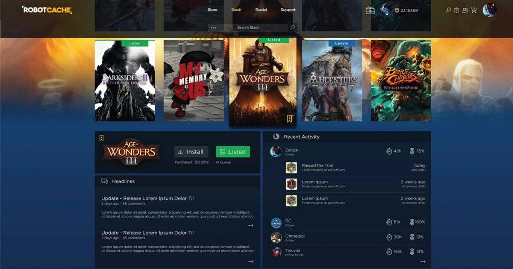 """THQ Nordic (""""Darksiders 3"""") ist einer von über 20 Publishern, die die Markteinführung von Robot Cache unterstützen (Abbildung: Robot Cache)"""