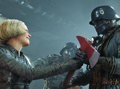 """Szene aus der bislang in Deutschland vertriebenen Version von """"Wolfenstein 2: The New Colossus"""" (Abbildung: Bethesda)"""