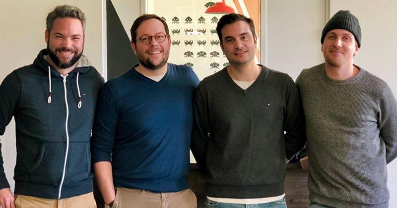 Manuel Karg, Markus Schneider, Roberto Omezzolli und Sebastian Reckzeh sind die Gründer von Zeuz (Foto: Zeuz GmbH)