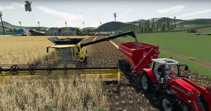 Farming Simulator League: Jedes Match dauert 15 Minuten - wer am schnellsten erntet, gewinnt.