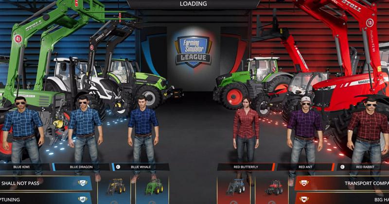 Farming Simulator League: Vor dem Start der Matches entscheiden sich die dreiköpfigen Teams für einzelne Landmaschinen-Modelle.