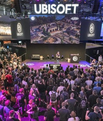Gamescom-Fakten: Auch 2018 war der Ubisoft-Stand von Spiele-Fans umlagert (Foto: KoelnMesse / Oliver Wachenfeld)