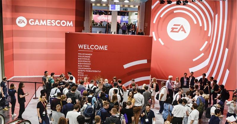 Der US-Spielekonzern Electronic Arts ist einziger Mieter in Halle 1 auf dem Gamescom-Gelände (Foto: KoelnMesse / Thomas Klerx)