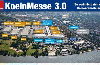 So verändert sich das Gamescom-Gelände bis 2030 (Abbildung: KoelnMesse / JSWD Architekten / Beschriftung: Redaktion)