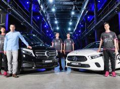 Mercedes-Benz wird Teilhaber von SK Gaming - im Bild: Geschäftsführer Alexander Müller (2. von links) mit Teilen seines Kaders - Foto: Mercedes-Benz Unternehmens-Kommunikation