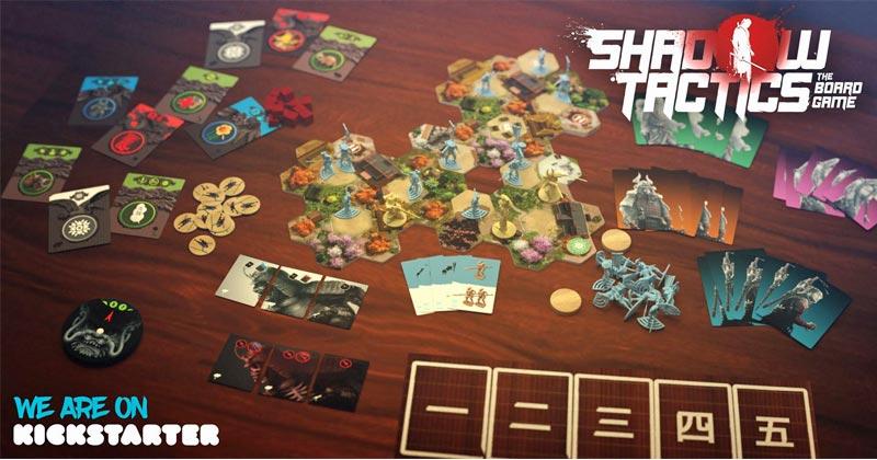 """Spielfiguren und Design des """"Shadow Tactics""""-Brettspiels sind an die erfolgreiche PC-Spiele-Vorlage angelehnt (Abbildung: Mimimi Productions)"""