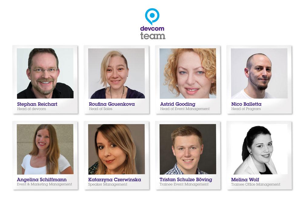 Das Team der Devcom GmbH besteht aus erfahrenen Konferenz-Machern und Nachwuchskräften (Foto: Devcom GmbH)