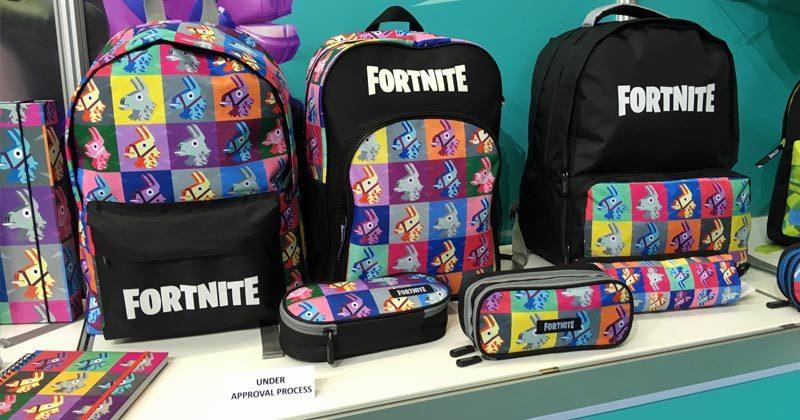 Ab dem Frühjahr 2019 erhältlich: Fortnite-Rucksäcke und Schultaschen (Foto: GamesWirtschaft)