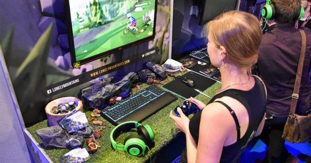 Typisch Indie Arena Booth: Viele Aussteller dekorieren ihre Spielstation mit viel Liebe - hier der Auftritt von Megagon Industries (
