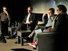 Quartett der Spielekultur: Experten diskutieren über kulturelle Aspekte herausragender Videospiele (Foto: Jenny Neufeld)