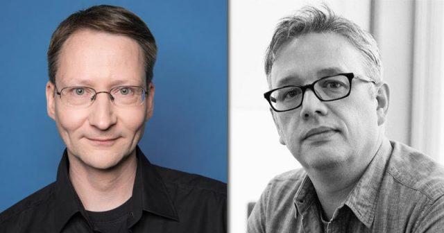 Thomas Pottkämper übergibt die Aufgabe als Studio-Manager von Ubisoft Blue Byte Mainz an David Wightman (Fotos: Ubisoft)