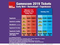 Gamescom-Tickets 2019 im Überblick: Das Early-Bird-Kontingent ist bereits vergriffen (Stand: 12.4.2019)