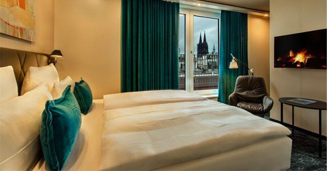Zimmer mit Aussicht: Das neue Motel One Köln-Neumarkt wurde erst 2018 eröffnet (Foto: Motel One)