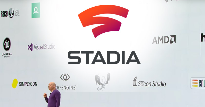 Google kooperiert für Stadia mit nahezu allen relevanten Games-Technologie-Unternehmen (Szene aus der Google-Keynote vom 19.3.)