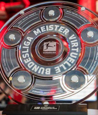 Deutsche Club-Meister sind sie bereits - im Mai kämpfen Michael Bittner und Mohammed Harkous kämpfen um die Meisterschale der Virtual Bundesliga 2018/19 (Foto: DFL / Felix Gemeiner)