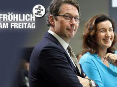 Verkehrsminister Andreas Scheuer (hier mit Digital-Staatsministerin Dorothee Bär) koordiniert die Subventionierung der Games-Branche mit anfänglich 50 Millionen Euro (Foto: GamesWirtschaft)