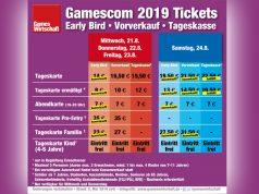 Tages-Tickets für den Gamescom-Samstag (24.8.) sind nicht mehr im Vorverkauf erhältlich - und damit auch nicht an der Tageskasse (Stand: 8. Mai 2019)