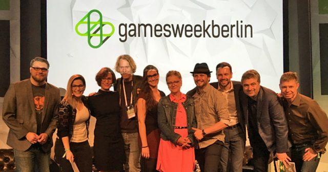 Veranstalter und Förderer der Games Week Berlin 2019 bei der Eröffnungsveranstaltung (Foto: GamesWirtschaft)