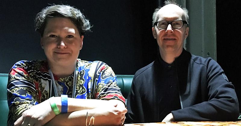Im GamesWirtschaft-Gespräch erklären die Roblox-Manager Laura Higgins und Chris Misner, wie sie den deutschen Markt erobern wollen (Foto: GamesWirtschaft)
