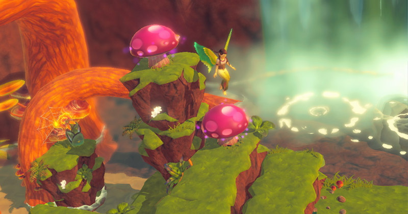 """Hüpfend und Rätsel-lösend erobert Sonnenelfe Surah mit ihren Elfen-Kolleginnen die """"Bayala""""-Spielwelt (Abbildung: Wild River)"""