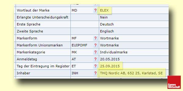 """Bereits Mitte 2015 hat THQ Nordic die Marke """"ELEX"""" registrieren lassen - 2017 erschien das gleichnamige Piranha-Bytes-Spiel."""