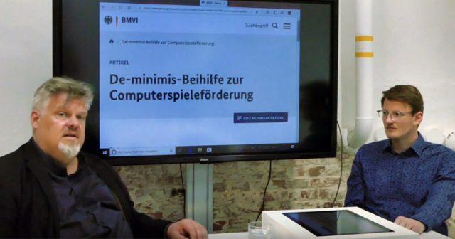 Die Experten Malte Behrmann und André Bernhardt erklären in ihrem YouTube-Video, wie die neue Computerspiele-Förderung des Bundes funktioniert.
